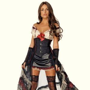 Jonah Hex Lilah Halloween Costume - Black - Small